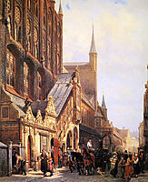 Cityhall in Lbeck, springer