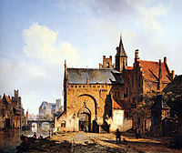 Fantasy cityview of Maassluis, springer