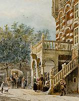 Figures on the Bank in Deventer, 1888, springer