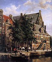 The Oude Waag at the Westerkerk, springer