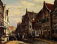 Oudewater Street At Summer, 1878, springer