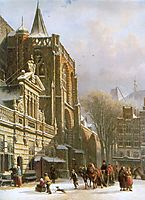 St. Michael Church in Zwolle, 1862, springer