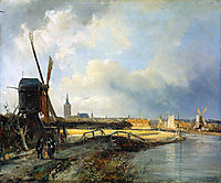 Study for View on Den Haag, springer