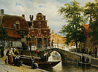 A View of Franeker with the Zakkend Ragerschuisje, 1872, springer