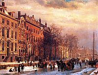 View on Heerengracht in Amsterdam, springer