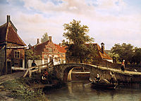 View on Enkhuizen, springer
