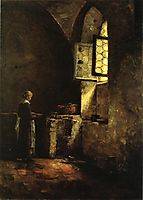 A Corner in the Old Kitchen of the Mittenheim Cloister, 1883, steele