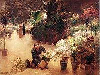 Flower Mart, 1890, steele