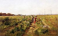 In the Berry Field, 1890, steele