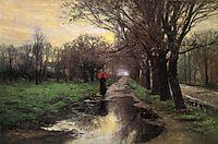 Meridian Street, Thawing Weather, 1887, steele