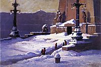 Monument in the Snow, 1918, steele