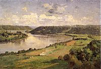 The Ohio river from the College Campus, Honover, 1892, steele