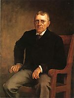 Portrait of James Whitcomb Riley, 1891, steele