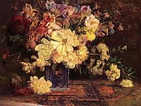 Still Life with Peonies, 1915, steele