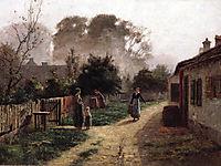 Village Scene, steele