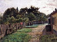 Village Scene, c.1885, steele
