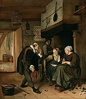 An old to Young Girl, c.1665, steen