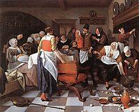 Celebrating the Birth, 1664, steen