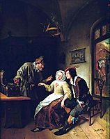 Choice between Richness and Youth, 1663, steen