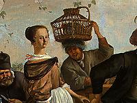 Dancing couple(detail), 1663, steen