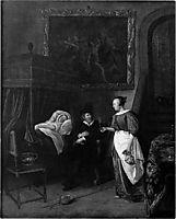 Doctor`s visit, 1670, steen