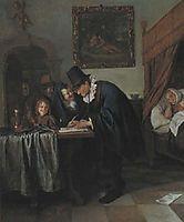 Doctor-s visit, c.1665, steen