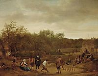 Farmers to skittles, 1655, steen