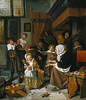 Feast of St. Nicholas, 1665, steen