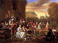 Garden Party, 1677, steen