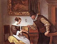 Harpsichord Lesson, 1660, steen