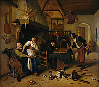 In the Tavern, 1660, steen
