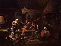 Lean Kitchen, c.1650, steen