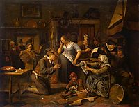 Marriage Contract, c.1668, steen