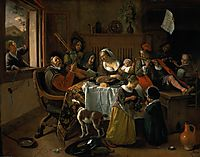 Merry family, 1668, steen