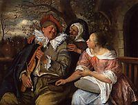 Merry Threesom, 1672, steen