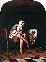 Morning Toilet, 1665, steen