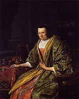 Portrait of Geertruy Gael, Second Wife of Gerrit Gerritsz Schouten, 1665, steen