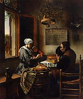 Prayer before Meal, 1660, steen