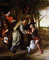 Return of the prodigal son, 1670, steen