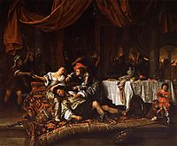 Samson and Delilah, 1668, steen