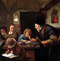 School teacher, c.1668, steen