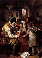 Schoolmaster, 1665, steen