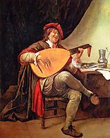 Self-portrait with a lute, steen