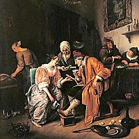 Sick old Man, 1660, steen
