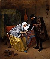 Sick woman, c.1665, steen