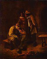 Smoker, c.1650, steen