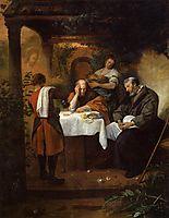 Supper at Emmaus, 1668, steen