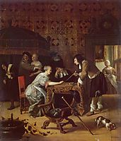 Tric Trac Players, 1667, steen