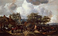 Village Festival with the Ship of Saint Rijn Uijt, c.1653, steen