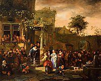 A Village Wedding, 1653, steen